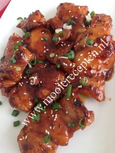 Vooral de chicken teri yaki is favoriet Baby Food Recipes, Chicken Recipes, Cooking Recipes, Quick Healthy Meals, Healthy Recipes, Low Carb Brasil, Sticky Chicken, Good Food, Yummy Food