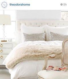 January Decor Inspiration.. I love that fake fur blanket.