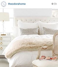 January Decor Inspiration.. I love that fake fur blanket.