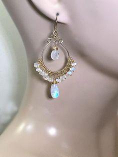 Crystal Flower Earrings- floral earrings/ fancy drop earrings/ dangle earrings/ bridesmaid gift/ gifts for her/ special occasion earrings - Fine Jewelry Ideas Circle Earrings, Chandelier Earrings, Women's Earrings, Diamond Earrings, Moonstone Earrings, Unique Earrings, Diamond Studs, Flower Earrings, Diamond Jewelry