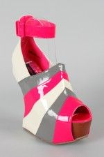 New trend: cantilever shoes   Dollhouse Virus Multi Heel Less Curved Wedge