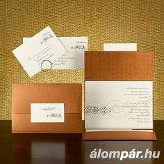 Perfect for a fall wedding! Wedding Invitations Online, Wedding Invitation Cards, Wedding Stationery, Invites, Wedding Themes, Wedding Colors, Wedding Ideas, Bronze Wedding, Personalized Stationery