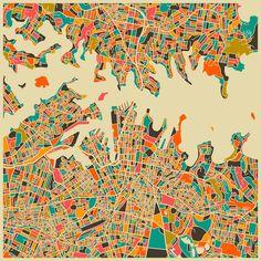 Map of Sydney, by Jazz Berry Blue.