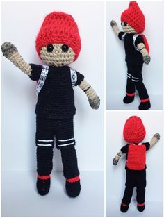 Tyler Joseph crochet doll from twenty øne piløts