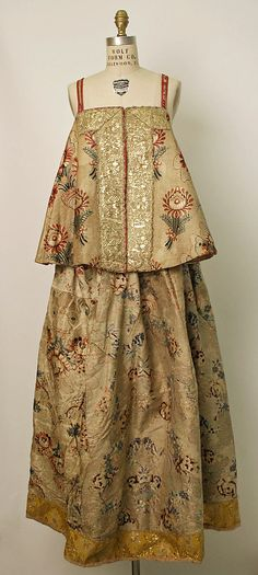 Dress Date: probably 19th century Culture: Russian Medium: silk, metallic thread
