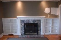 built-ins around fireplace   home decorating ideas