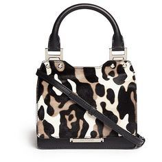 Jimmy Choo 'Amie' small camouflage print pony hair tote ($2,045) ❤ liked on Polyvore featuring bags, handbags, tote bags, animal print, black purse, camo tote, leopard print handbags, leopard tote and leopard tote bag