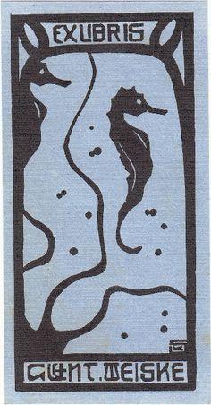 Karl Schmidt-Rottluff (1884-1976): Exlibris Guent. Weiske (1905)