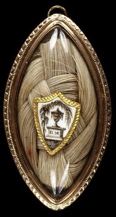 English mourning brooch, c.1785