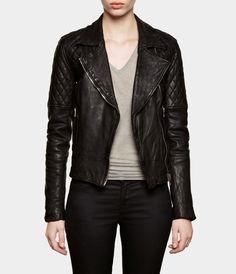 Walker Leather Biker Jacket   Womens Leather Jackets   AllSaints