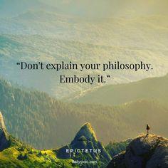 Embody your philosophy 💖✨
