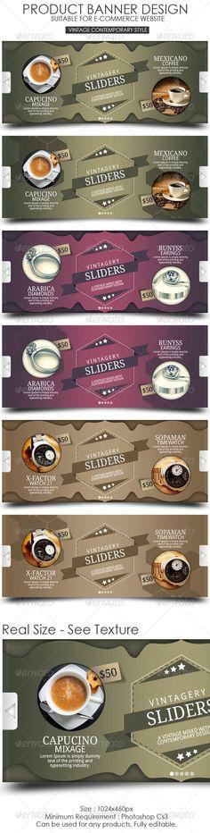 Product Banner Design   vintage