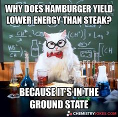A collection of the Chemistry Cat meme. These are the top Chemistry Cat meme jokes. View and rate your favorite memes of Chemistry Cat. Chemistry Cat, Chemistry Pick Up Lines, Cat Pick Up Lines, Chemistry Teacher, Organic Chemistry, Science Cat, Science Puns, Science Cartoons, Physics Jokes