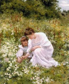 Picking Daisies, by Hermann Seeger
