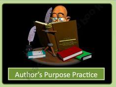 Author's Purpose Practice Power Point
