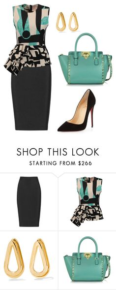 """""""style theory by Helia"""" by heliaamado on Polyvore featuring moda, Roland Mouret, Roksanda, Annelise Michelson, Valentino e Christian Louboutin"""