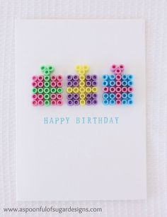 If you follow us over on Pinterest, you may have noticed we discovered some fun cards this week that were made from Hama Beads. Sarah and her friends used to love making things with Hama Beads when they were around 7-8 years old. I raided our stash of children's crafting supplies and found some Hama... Read More »