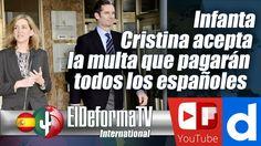 La infanta Cristina acepta la multa que pagarán todos los españoles