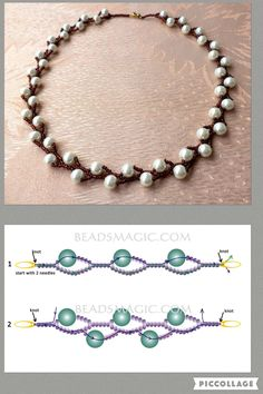 Diy Cleaners 51017408267867313 - Best seed pearl jewelry 2017 pearl pattern for beginners! – Best seed pearl jewelry 2017 pearl pattern for beginners! – Source by nadegefreulon Beaded Necklace Patterns, Seed Bead Patterns, Bracelet Patterns, Beaded Bracelets, Making Bracelets, Stretch Bracelets, Loom Patterns, Art Patterns, Embroidery Patterns