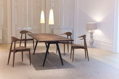 Matthew Hilton Welles Dining Table... Love the walnut and cast iron