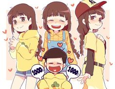 Osomatsu-san- Jyushimatsu and Homura Vocaloid, Osomatsu San Doujinshi, Sailor Moon Wallpaper, Ichimatsu, Anime Kawaii, Manga, Cute Love, Game Character, Anime Love