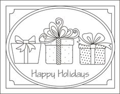 free christmas coloring pages christmas presents gifts coloring sheets