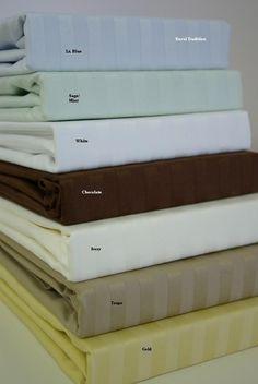 California King Sateen Stripe 800 Thread count 100% Egyptian cotton Sheet sets $119.99 www.scotts-sales.com