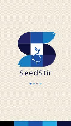 """Splash screen option for """"Seedstir"""" App."""