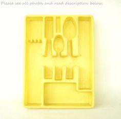 Lemon Yellow Kitchen Flatware Organizer by LaurasLastDitch on Etsy, $14.99