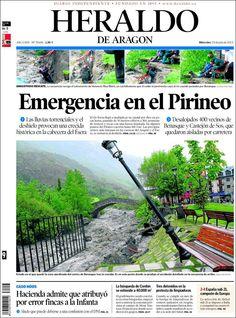 Los Titulares y Portadas de Noticias Destacadas Españolas del 19 de Junio de 2013 del Diario Heraldo de Aragón ¿Que le parecio esta Portada de este Diario Español?