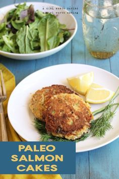 A Paleo Salmon Cakes recipe that is crazy simple and picky eater approved! You can enjoy eating these since they are Paleo diet friendly. Delicious salmon cakes for a weeknight meal or a casual weekend meal. Healthy Work Snacks, Super Healthy Recipes, Healthy Foods To Eat, Healthy Eats, Paleo Salmon Cakes, Keto Salmon, Primal Recipes, Free Recipes, Scd Recipes Phase 1