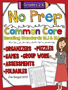 the game, graphic organizers, state testing ideas, common core reading