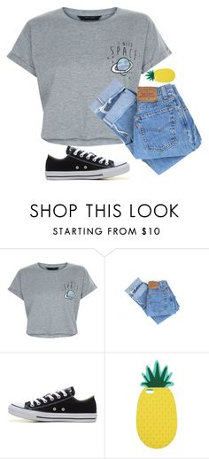 """I Need Space..."" by jxst-like-galaxy ❤ liked on Polyvore featuring New Look, Levi's, Converse and Miss Selfridge"