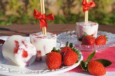 Picolé de iogurte com morango | Receitas e Temperos