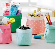 Colorful Denim Storage Bags Made From Jeans