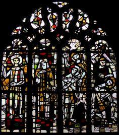 Vitraux de Jacques Le Chevallier dans l'église Saint Georges de Haguenau