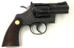Colt Python .357 Mag caliber revolver. Early snubnose model made in 1964.