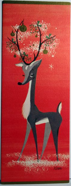 Mid Century Modern Deer by Karen Phillips (http://www.ebay.com/itm/Unused-Mid-Century-Modern-Deer-by-Karen-Phillips-Vintage-Christmas-Card-1005-/330840806998?pt=LH_DefaultDomain_0=item4d07a61656=true=650N5QCpB20AKzrKXtpDQpCBJFk%3D_cvip=true=nc&_trksid=p2047675.l2557)
