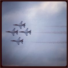 Thunderbirds flying above MacDill AFB near Tampa, Florida. They brought me my baby brother in 1978:)