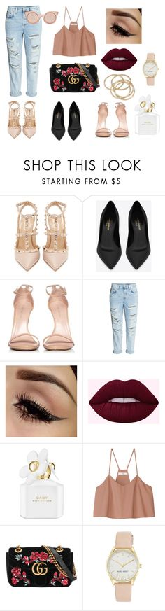 """""""City kitty"""" by sweetlittlebunny on Polyvore featuring moda, Valentino, Yves Saint Laurent, Stuart Weitzman, H&M, Marc Jacobs, TIBI, Gucci, Nine West i ABS by Allen Schwartz"""