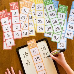 One More, One Less, Ten More, Ten Less Number Cards – you clever monkey - Mathe Ideen 2020 Math For Kids, Fun Math, Number Games For Preschoolers, Kids Fun, Year 1 Maths, Early Years Maths, Math Classroom, Kindergarten Math Centers, Kindergarten Preparation