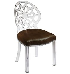 Take a look at this acrylic spider back chair by Amy Lee for Plexi-Craft...such a fun chair!