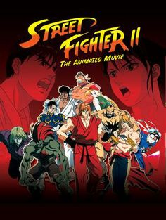 Street Fighter 2 animated movie poster - collected for www.thecautioustrain.blogspot.com