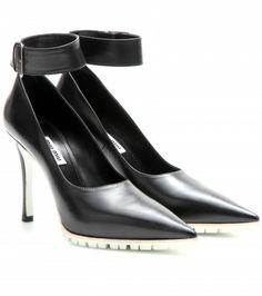 Miu Miu - Leather pumps with ankle strap  - mytheresa.com GmbH