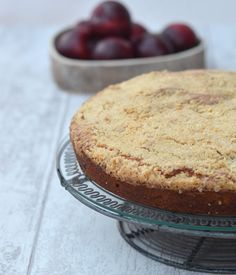 Plum and Ginger Crumble Cake recipe.