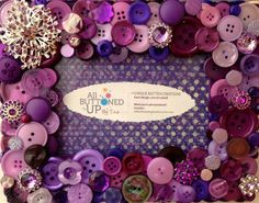 Purple Button Picture Frame for 4x6 Photo by allbuttonedupbytina, $45.00