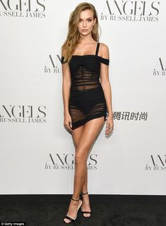 Skriver flashes her peachy derrière in a sheer mini-dress Fabulous: Josephine Skriver dazzled Thursday at a New York Fashion Week launch party for a.Fabulous: Josephine Skriver dazzled Thursday at a New York Fashion Week launch party for a. Josephine Skriver, Victoria Secrets, New York Fashion, Celebrity Dresses, Celebrity Style, Russell James, Sheer Mini Dress, Next Dresses, Cindy Crawford