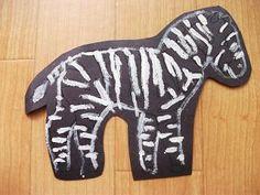 Preschool Crafts for Kids*: Zebra Animal Craft