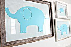 Nursery Ideas Elephant Wall Art...cute and cheap idea!