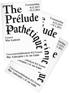 The Prélude Pathétique   Dear Reader,